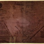 1791 map of DC area, very dark and hard to read.