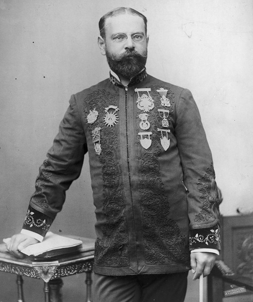 John Philip Sousa, three-quarter length portrait, standing, facing front