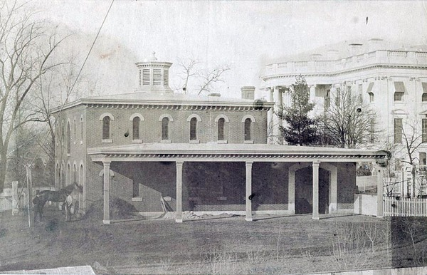 """President's Stables(White House in background)."".jpg"