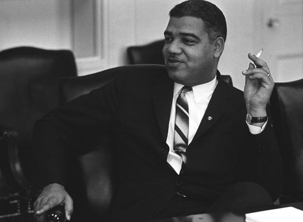 Whitney Young at White House, January 18, 1964