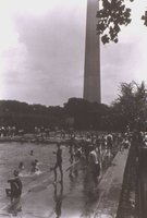 City swimming pool and Washington Monument in distance