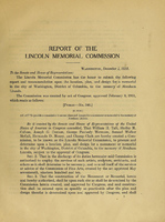 Lincoln Memorial Commission Report