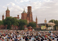 Audience for Smithsonian's 150th Birthday Concert