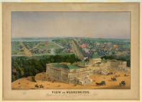 View of Washington drawn from nature and on stone