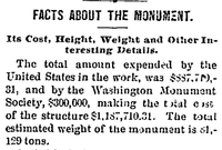 """Facts About the Monument"""