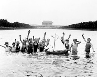 Children in the Reflecting Pool