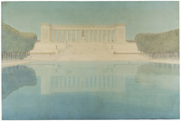 Henry Bacon's design for the Lincoln Memorial