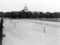 Tennis courts on the Mall
